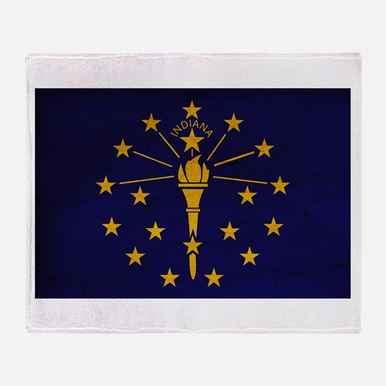 Indiana Flag Throw Blanket