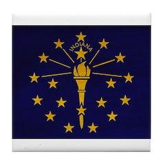 Indiana Flag Tile Coaster
