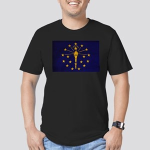 Indiana Flag Men's Fitted T-Shirt (dark)