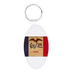 Iowa Flag Keychains