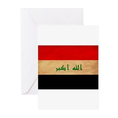 Iraq Flag Greeting Cards (Pk of 10)