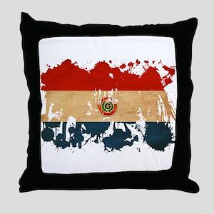 Paraguay Flag Throw Pillow
