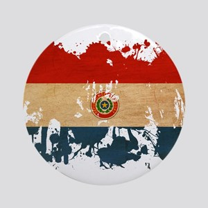 Paraguay Flag Ornament (Round)