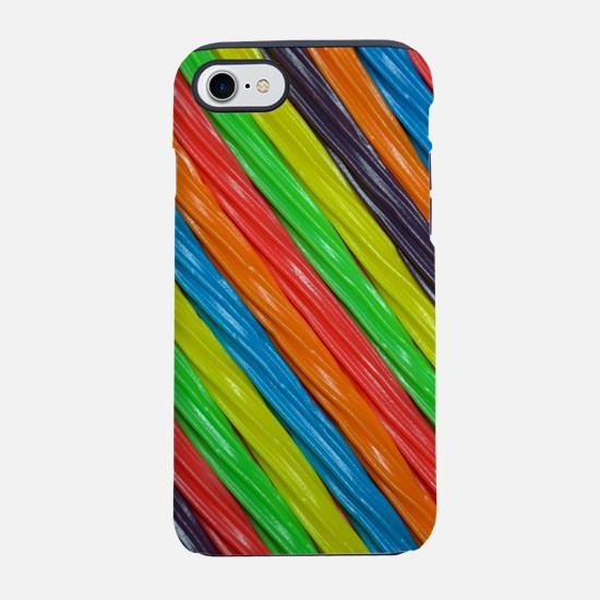 Rainbow colored licorice candy iPhone 7 Tough Case
