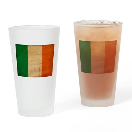 Ireland Flag Drinking Glass