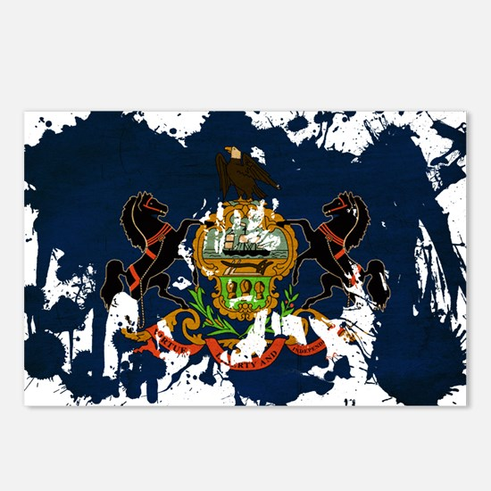 Pennsylvania Flag Postcards (Package of 8)