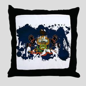 Pennsylvania Flag Throw Pillow