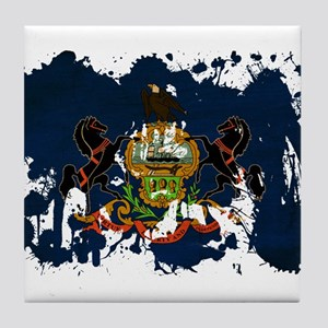 Pennsylvania Flag Tile Coaster