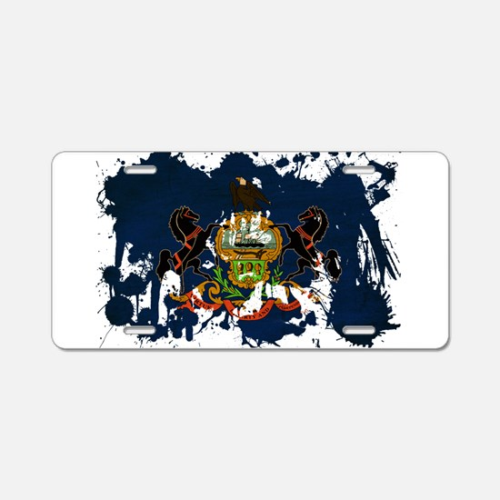 Pennsylvania Flag Aluminum License Plate