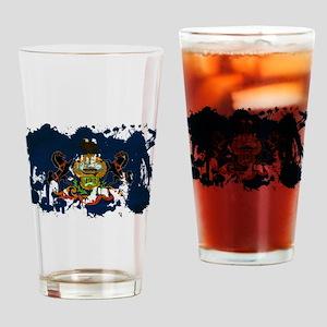 Pennsylvania Flag Drinking Glass