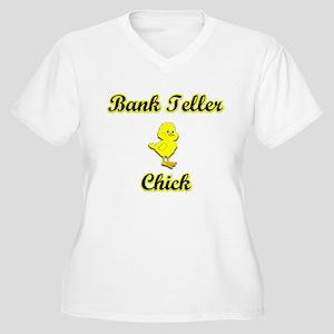 Bank Teller Chick Women's Plus Size V-Neck T-Shirt