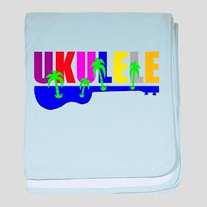 Hawaiian Ukulele baby blanket
