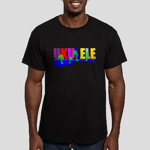 Hawaiian Ukulele Men's Fitted T-Shirt (dark)