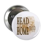 """Head of my Home (Brown) 2.25"""" Button (10 pack"""