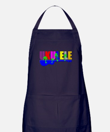 Hawaiian Ukulele Apron (dark)