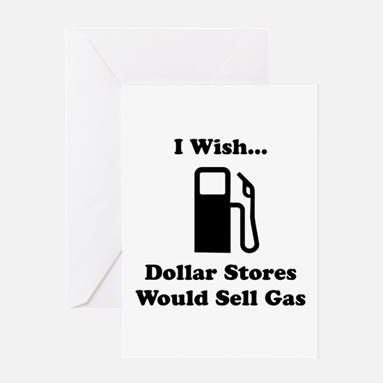 Dollar Store Gas Greeting Card