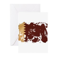 Qatar Flag Greeting Cards (Pk of 10)
