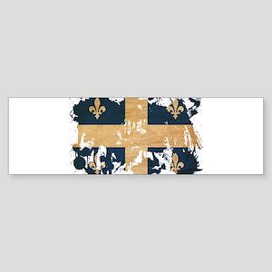 Quebec Flag Sticker (Bumper)