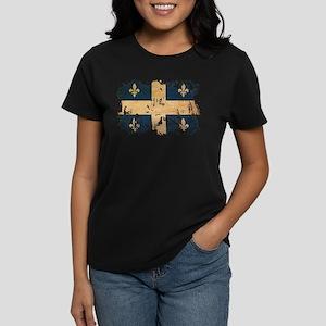 Quebec Flag Women's Dark T-Shirt