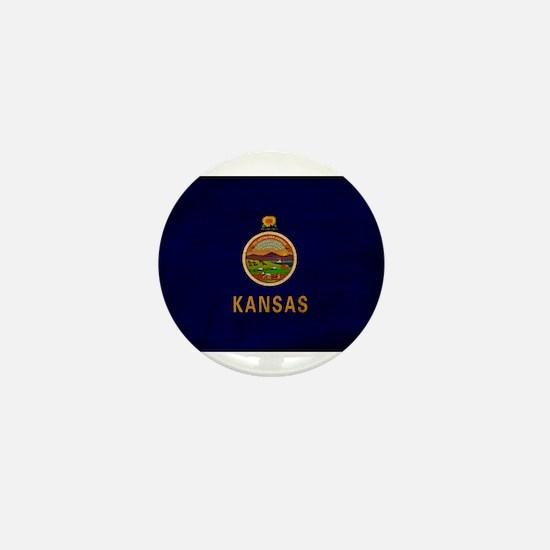 Kansas Flag Mini Button