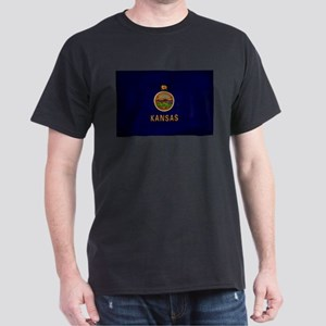 Kansas Flag Dark T-Shirt