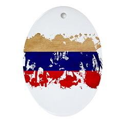 Russia Flag Ornament (Oval)