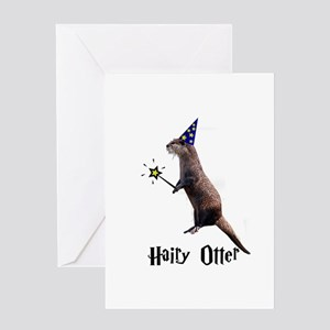 Hairy Otter Greeting Card