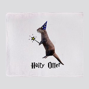 Hairy Otter Throw Blanket