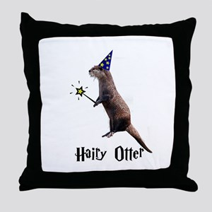 Hairy Otter Throw Pillow