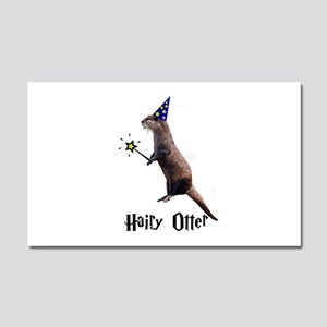 Hairy Otter Car Magnet 20 x 12