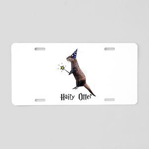 Hairy Otter Aluminum License Plate