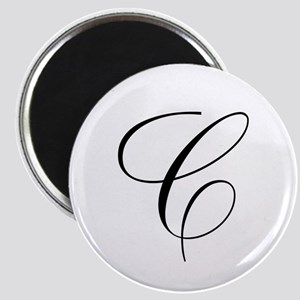 C Initial Black and White Scr Magnet