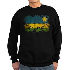 Rwanda Flag Sweatshirt (dark)