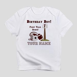 1st Birthday Football Infant T-Shirt