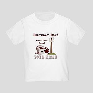 1st Birthday Football Toddler T-Shirt