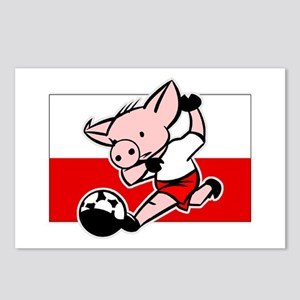 Poland Soccer Pigs Postcards (Package of 8)