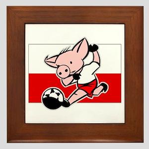 Poland Soccer Pigs Framed Tile