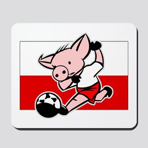 Poland Soccer Pigs Mousepad