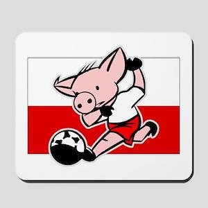 Poland Soccer Pigs Mousepad