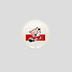 Poland Soccer Pigs Mini Button