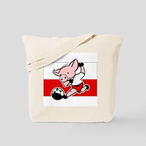 Poland Soccer Pigs Tote Bag