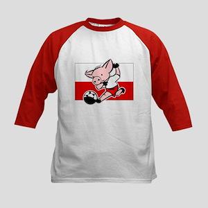 Poland Soccer Pigs Kids Baseball Jersey