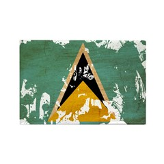 Saint Lucia Flag Rectangle Magnet
