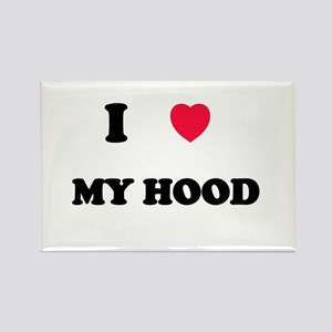 I Love my hood Rectangle Magnet