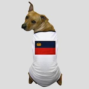 Liechtenstein Flag Dog T-Shirt
