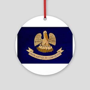 Louisiana Flag Ornament (Round)