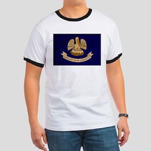 Louisiana Flag Ringer T