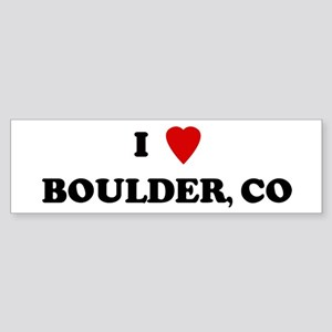 I Love Boulder Bumper Sticker