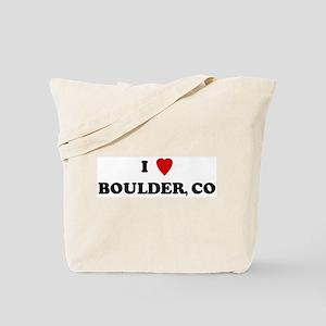 I Love Boulder Tote Bag