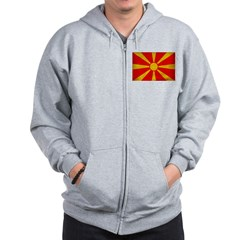 Macedonia Flag Zip Hoodie